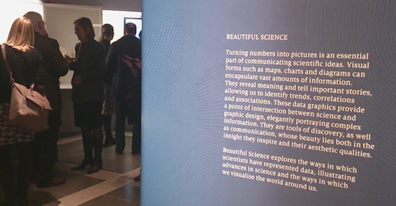 Beautiful science exhibit introduction panel
